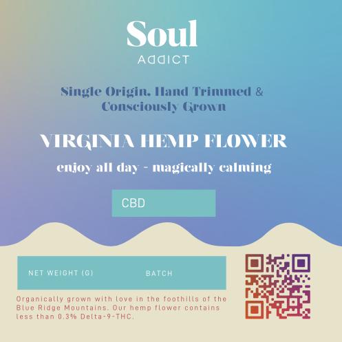Virginia Hemp Flower Label